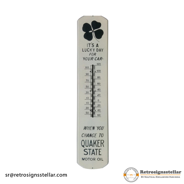 Advertising Enamel Thermometer Plate