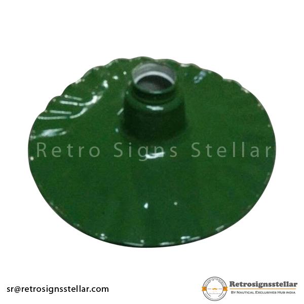 Green Enameled Lamp Shade