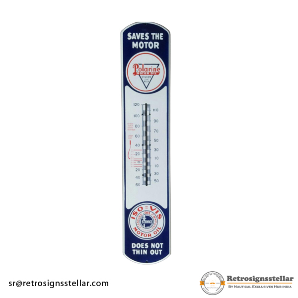 Polarine Thermometer Porcelain Enamel Plate