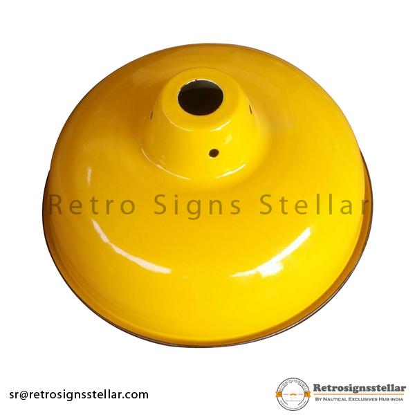 Yellow Porcelain Enamel Lamp Shade