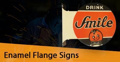 Enamel Flange Signs Manufacturers