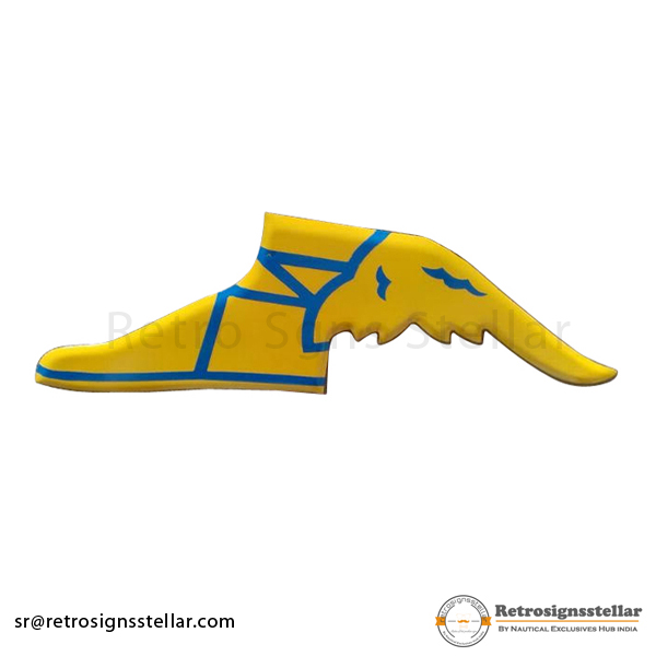Yellow Color Metal Winged Shoes