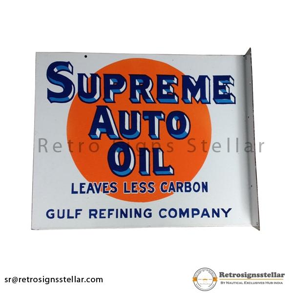 Advertisement Outdoor Flange Enamel Signs