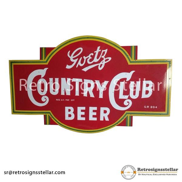 Beer Bar Outdoor Skins Enamel Signs