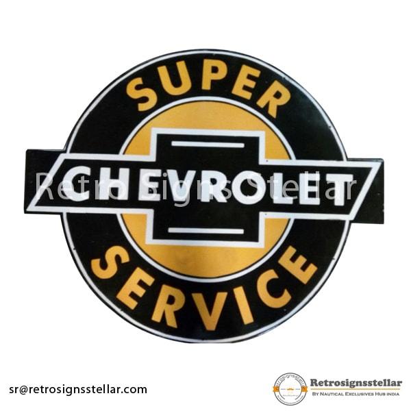 Porcelain Chevrolet Service Sign