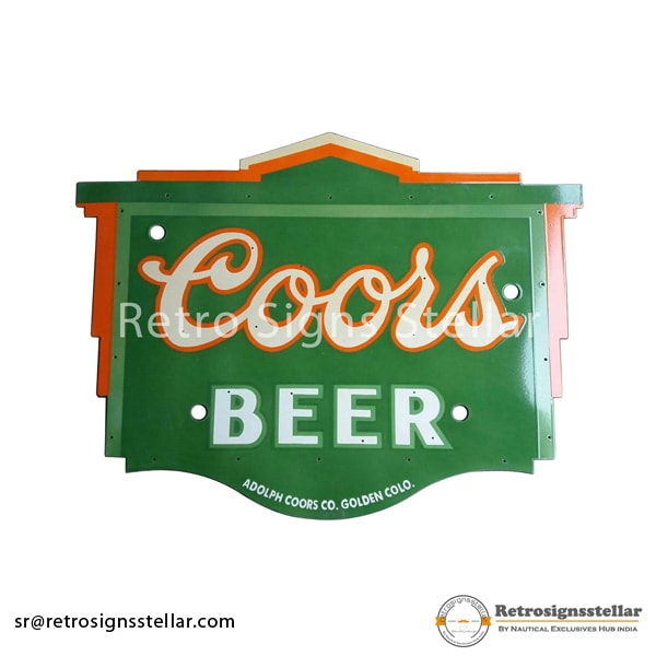 Reproduction Beer Pub Porcelain Sign